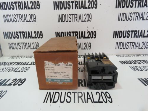SQUARE D AC CONTROL RELAY OPEN TYPE 8501G0-60 NEW IN BOX