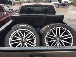 20 inch rims with like new tires cheap!