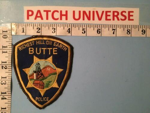 VINTAGE BUTTE  MONTANA  POLICE SHOULDER PATCH  J065