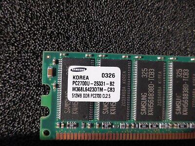 512 Mb Ddr Modul (RAM Modul 512MB Samsung M368L6423DTM-CB3 DDR, PC2700, CL2.5 184-Pin (A02))