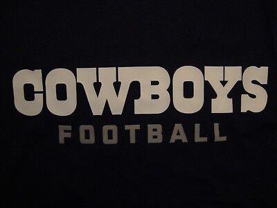 NFL Dallas Cowboys Football Sportswear Fan Apparel Blue Polyester T Shirt Size S