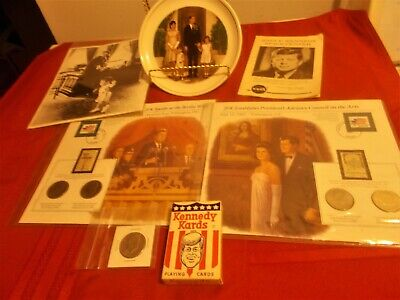 John F. Kennedy Memorabilia Coins Stamps Photos Cards Plate Brochure for sale  Winter Springs