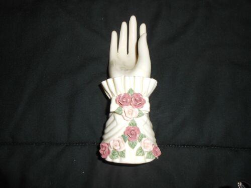 Vintage Porcelain Rose  Cuff Hand Display