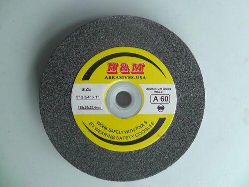 "Aluminium Oxide BENCH GRINDING WHEEL 5"" x 3/4"" 60 Grit Bench Grinder"