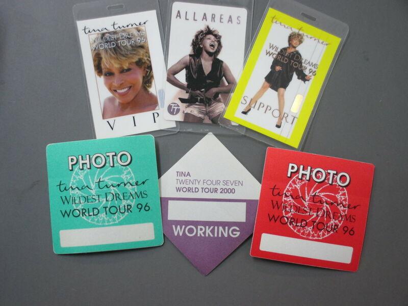 Tina Turner backstage passes THREE Laminated Wildest Dreams 1996 + 3 Stickers !