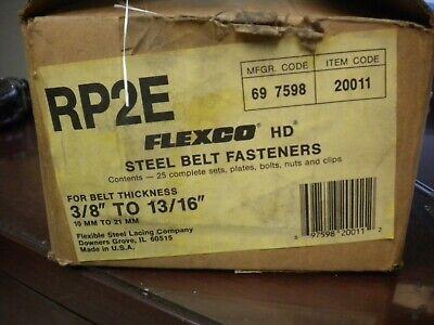 Flexco Rp2e Steel Belt Fasteners 38 To 1316 Belts 25 Complete Sets