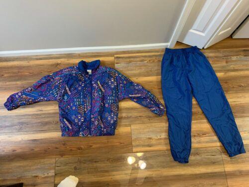 Vtg 90s Lavon Windbreaker 2 Piece Jacket + lined Pants Women