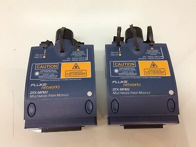 Fluke Networks Dtx-mfm2 Multimode Fiber Module Pair Tested