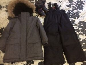 3T boys snowsuit and boots