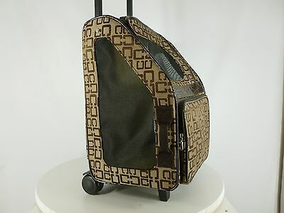 Pet Carrier Service Dog Cat Rolling Travel Double Wheeled Luggage Bag