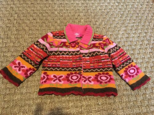 Oilily wool cardigan sweater, made in Italy, size 2-3. EUC!