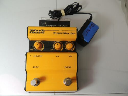 Markbass Super Booster Bass Boost Effects Pedal w/Adapter Free USA Shipping