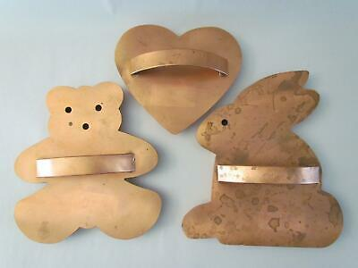 Cape Cod Copper Works XL Cookie Cutters Bear Rabbit Heart Orleans Solid Copper Cape Cod Copper