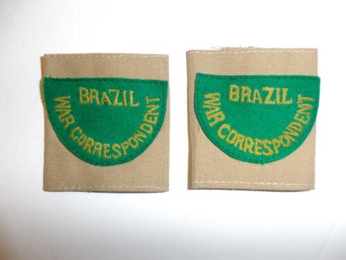 c0397p WW 2 Brazil War Correspondent shoulder tabs slip on pair R9E