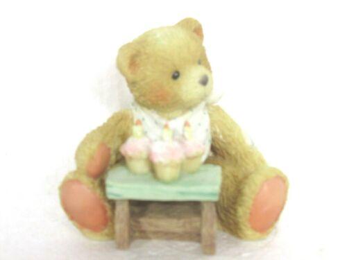 "Vintage 1992 Cherished Teddies #911313 Age 3 ""Three Cheers For You""  Figurine"