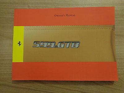 Ferrari 599 GTB Fiorano Owners Handbook/Manual