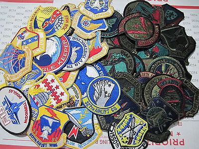 LOT of 40 Assorted US AIR FORCE Shoulder Pocket Insignia Military Patches USAF