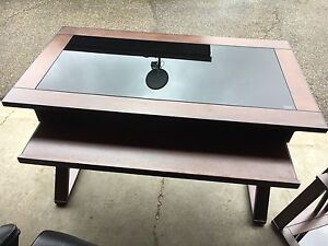 Desk with matching Shelf Unit & Leather Chair