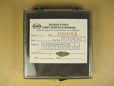 Nrc Newport 10r08er1 Round Pyrex First Surface Mirror Lot Of 2