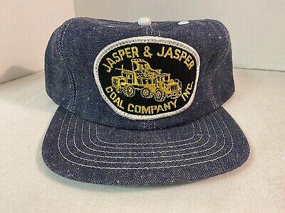 Vintage Jasper & Jasper Coal Company denim snapback hat Made in the USA NICE!