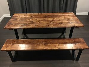 Rustic Dining Table - Bar Height
