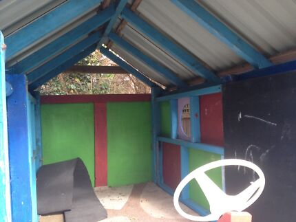 Kids cubby house boat theme