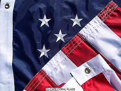5' X 8' U.S./ USA  AMERICAN FLAG NYLON EMBROIDERED SOLID BRA