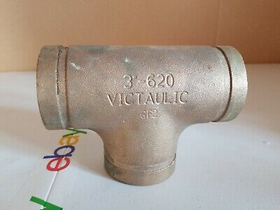 Victaulic 3 Tee 620 Grooved Copper Connection Fittings - 3-620 Victaulic