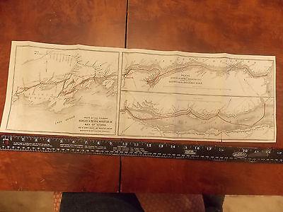 1900 Richelieu & Ontario Navigation Steamboat Canada Quebec CPR Newfoundland Map