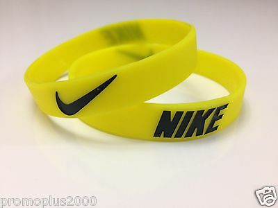 Nike Sport Baller Yellow w/Black Band Silicone Rubber Bracelet Wristband