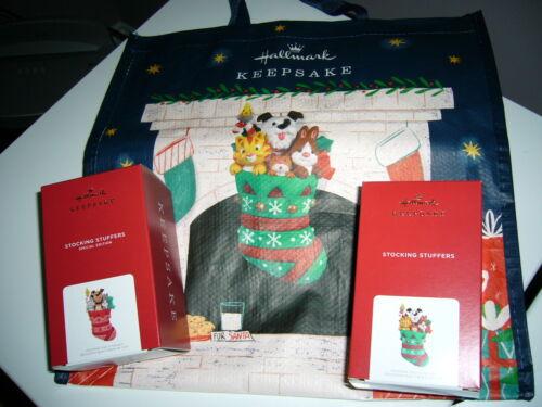 Hallmark 2021 Ornaments X2 Stocking Stuffers Regular and RARE +bag NIB Free Ship