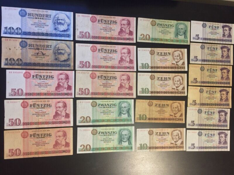 Lot Of East German/DDR Banknotes