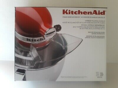 KitchenAid 1 Piece Pouring Shield for Tilt-head Stand Mixers KN1PS Genuine  1 Piece Pouring Shield