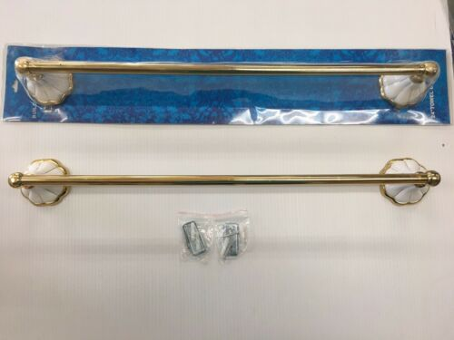 2 Pcs 24 inch glod brass ceramic towel bars