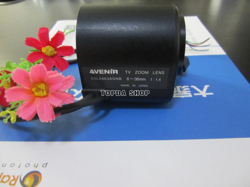 1PC AVENIR SSL06036GNB 6-36mm 1:1.4 motorized zoom Camera Lens#SS