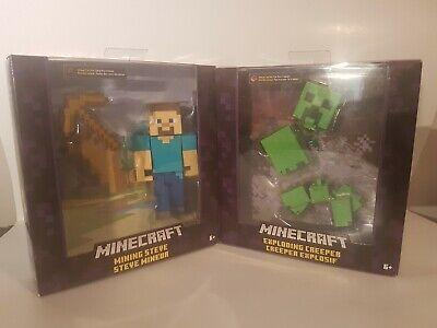 Minecraft Exploding Creeper Action & Mining Steve Figure Mattel New NIB