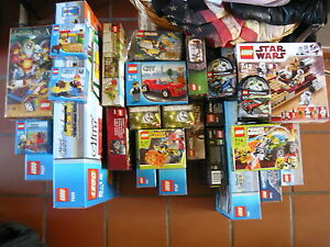 Lot-2-set-lego-city-kingdoms-racers-friends-castle-rare-a-la-piece