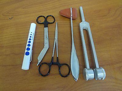 5 Piece Black Medical Kit Diagnostic Emt Nursing Surgical Ems Student Paramedic