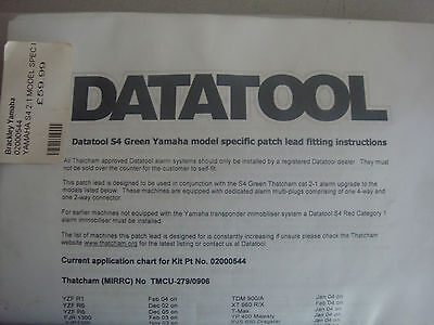 Datatool S4 Green Yamaha Patch Lead 02000544