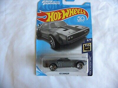 2018 HOT WHEELS HW SCREEN TIME THE FATE OF THE FURIOUS ICE CHARGER NIP 79/365