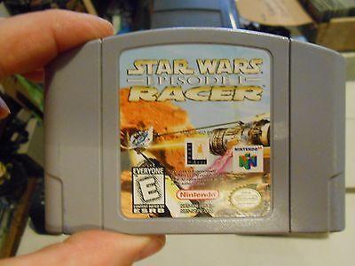 Star Wars Episode I  Racer Nintendo 64 N64 Game Pod Racing From Phantom Menace