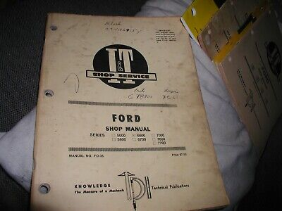Ford 5000 5600 6600 6700 7000 7600 7700 Tractor It Shop Manual Fo-35