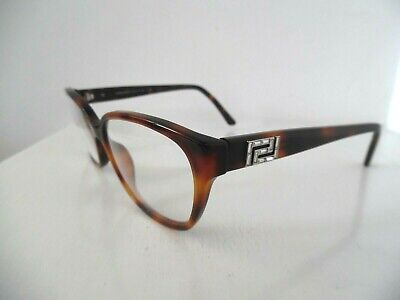 Ladies Versace Tortoise Brown Embellished Oval Eye Glasses 3189-B 5061 54 15 140