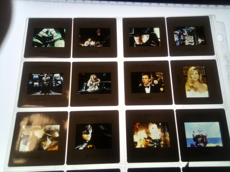 Batman  1989 Keaton  Nicholson 20 set 35mm slides original DC comics warner Bros