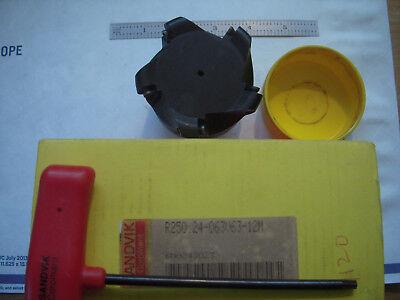 New Sandvik Coromant Varilock 3 Indexable Carbide Facemill R250 .24-063v63-12m
