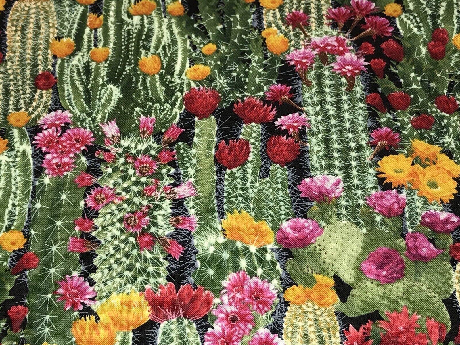 100/% Cotton 1649-26641-S SOUTHWEST SOUL QUILT Fabric Rust Cactus Cactus /& Flowers Quilting Treasures Sewing Material Desert Cactus