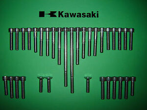 Kawasaki Z250 GPz305 Twin Engine SS Stainless Allen Screw Kit *UK FREEPOST*