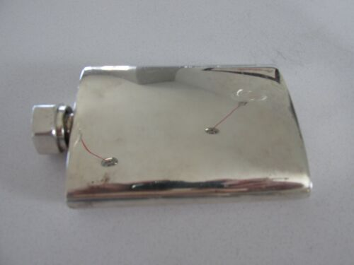 Vintage Hex Bolt Top .960 Silver Flask (Taxco Mexico)