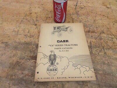 Antique Vintage Case Model Va Series Vac Tractor Manual Parts Catalog No Rie61