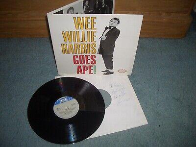 WEE WILLIE HARRIS GOES APE! GATEFOLD SLEEVE SIGNED & DEDICATED ACE MONO LP